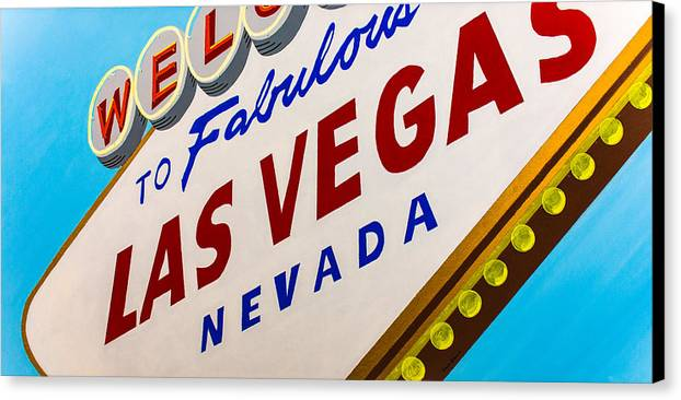 Las Vegas Canvas Print featuring the painting Vegas Tribute by Slade Roberts
