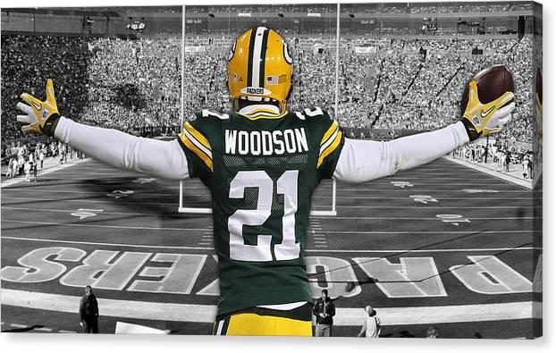 Charles Woodson Green Bay Packers Stadium Art 2 by Joe Hamilton