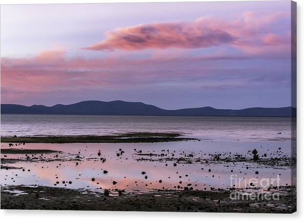 Lake Canvas Print featuring the photograph Lake Tahoe Sunset by Mel Ashar