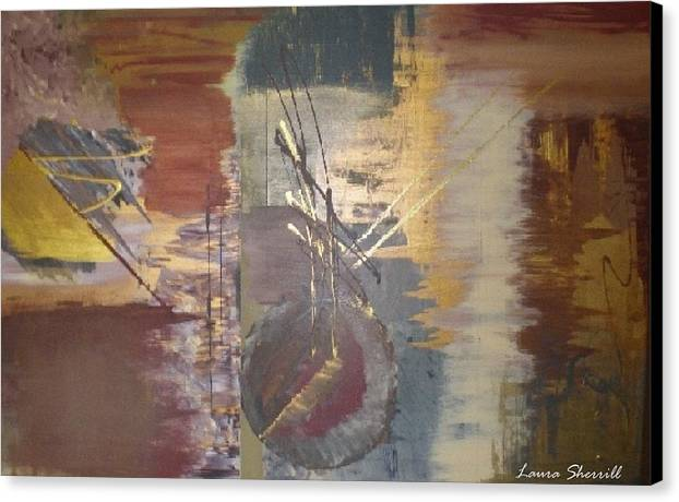 Contemporary Canvas Print featuring the painting Time by Laura Sherrill