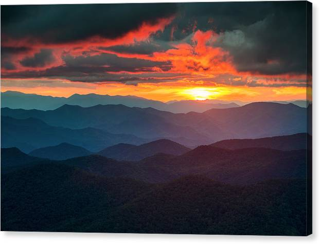 Blue Ridge Mountains Sunset from Southern Blue Ridge Parkway by Dave Allen