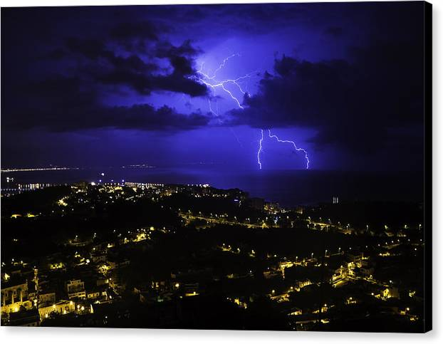 Storm Canvas Print featuring the photograph Storm by Maksims Novikovs