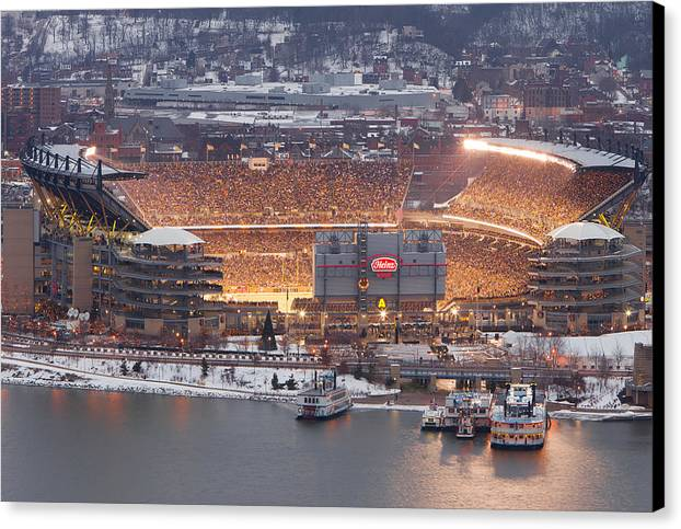 Steelers Canvas Print featuring the photograph Pittsburgh 4 by Emmanuel Panagiotakis