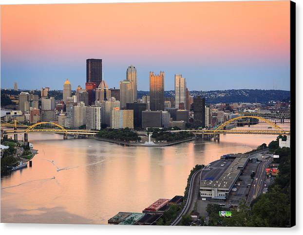 Steelers Canvas Print featuring the photograph Pittsburgh 16 by Emmanuel Panagiotakis