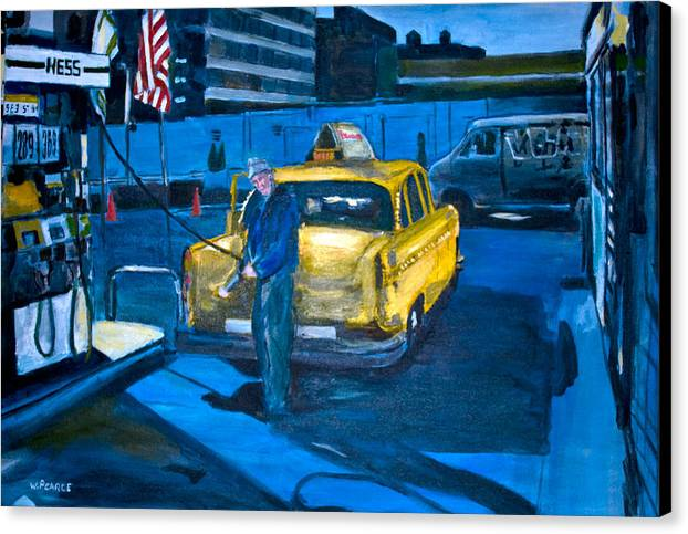 New York City Paintings Canvas Print featuring the painting Taxi by Wayne Pearce