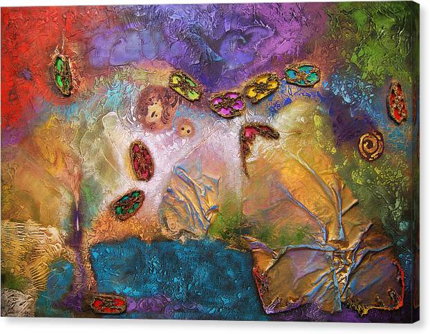 Canvas Print featuring the painting Jewels Of The Sky by Farhan Abouassali