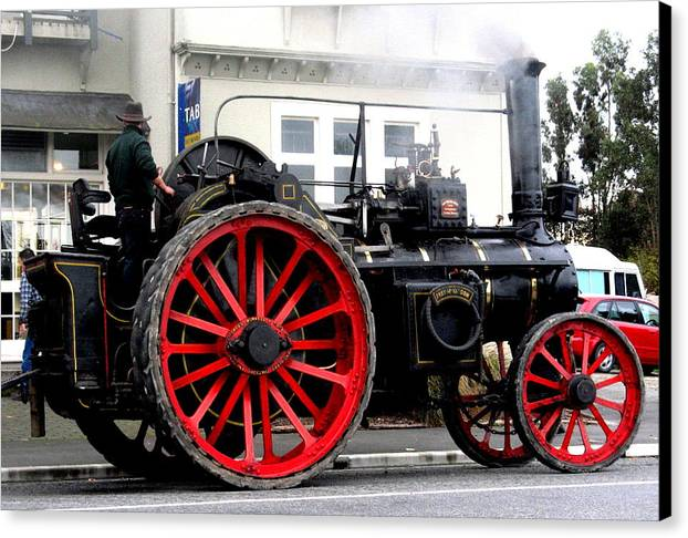 Traction Canvas Print featuring the photograph Traction Engine by Joyce Woodhouse
