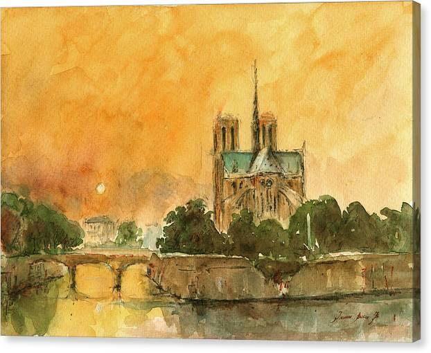 Paris Notre Dame by Juan  Bosco