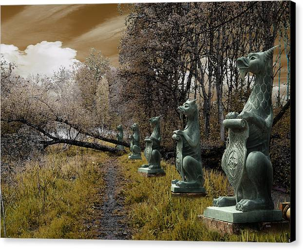 Dragon Canvas Print featuring the digital art Dragon Road 054 by The Hybryds