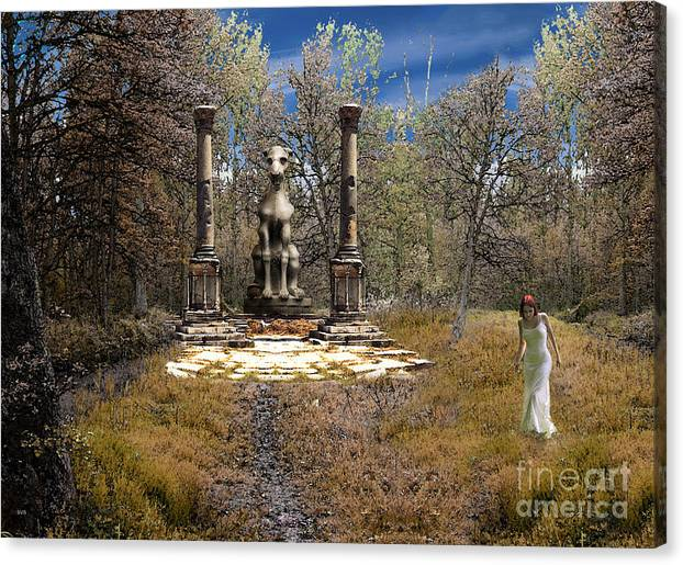 Dragon Canvas Print featuring the photograph The Priestess Of The Dragon by The Hybryds