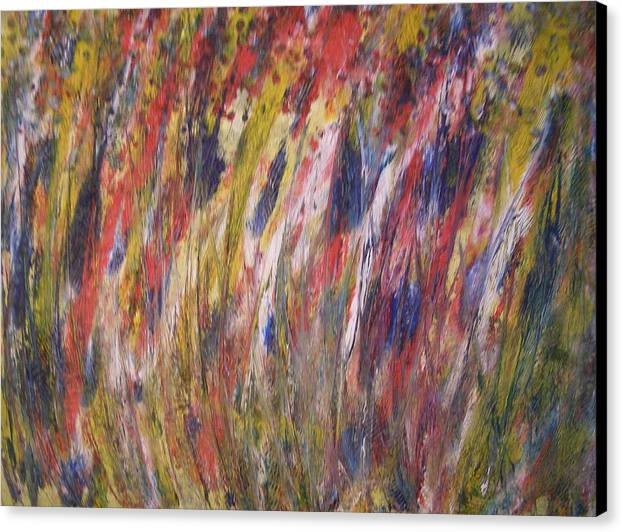 Abstract Canvas Print featuring the painting Spirits Rising by Don Phillips