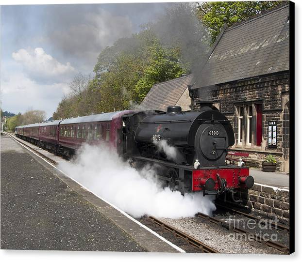 68013 Canvas Print featuring the photograph Leaving Platform 1 by Steev Stamford