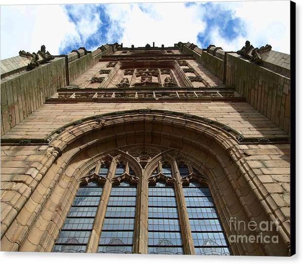 Cathedral Canvas Print featuring the photograph Looking Up To God by Steev Stamford
