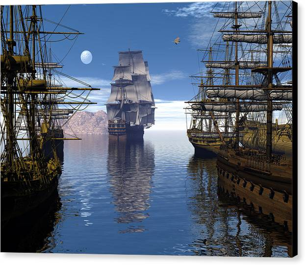 Bryce Canvas Print featuring the digital art Departure by Claude McCoy