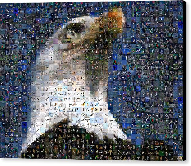 Mosaic Canvas Print featuring the digital art Eagle by Gilberto Viciedo