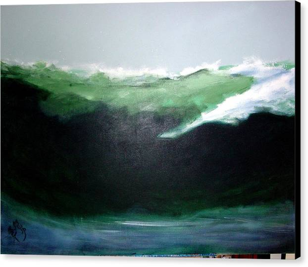 Surf Canvas Print featuring the painting Ghost Surfer by Paul Miller