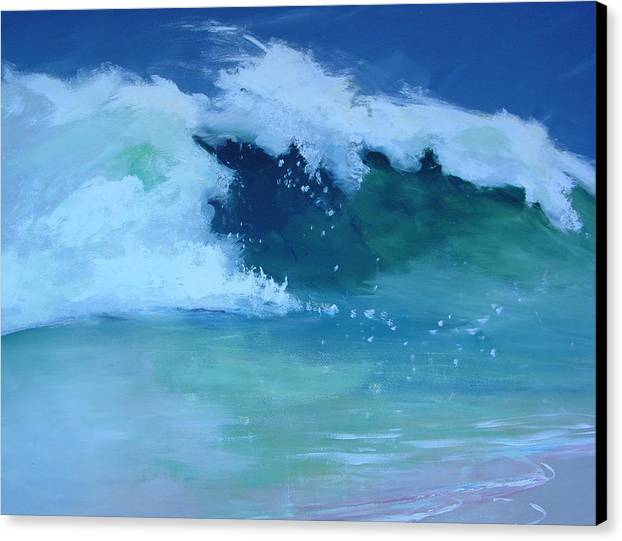 Surf Canvas Print featuring the painting Hapuna Beach Shore Stack by Paul Miller