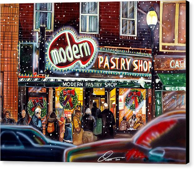Modern Pastry of Boston at Christmas by Dave Olsen