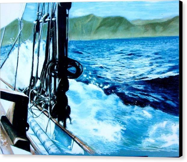 Seascape Canvas Print featuring the painting Off Maui by Paul Miller