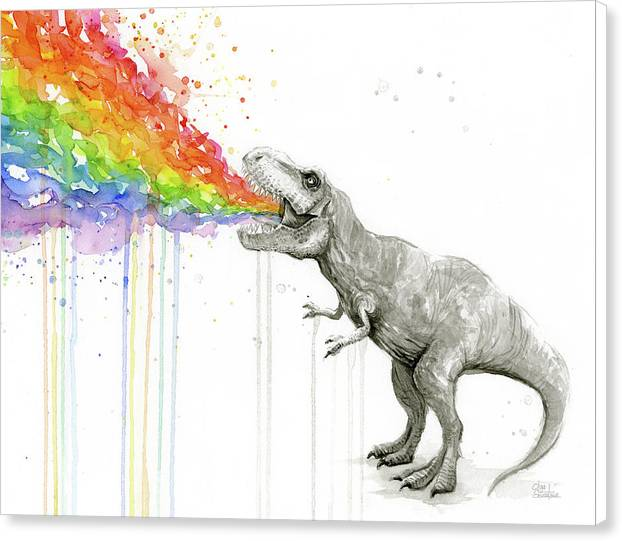 T-Rex Tastes the Rainbow by Olga Shvartsur
