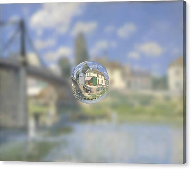 Post Modern Art Canvas Print featuring the digital art Sphere 18 Sisley by David Bridburg