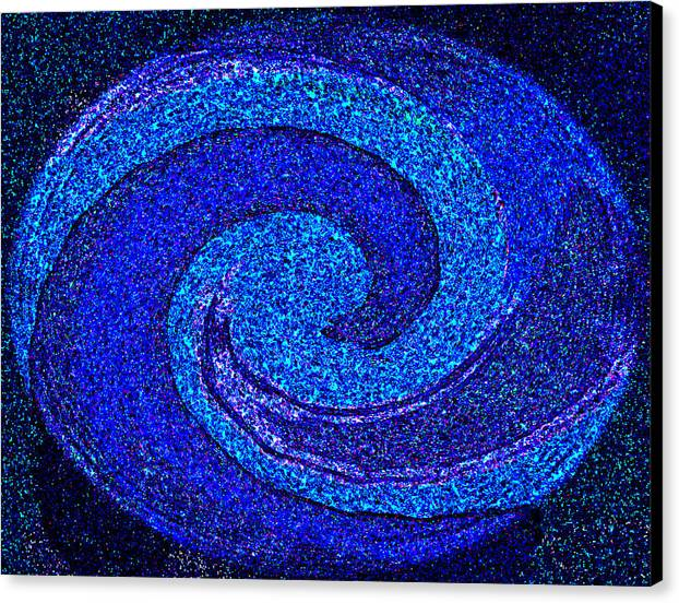 Abstract Art Paintings Prints Canvas Print featuring the painting The Moon And Stars For Thee By Rjfxx. by RjFxx at beautifullart com
