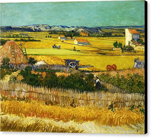 Post Modern Art Canvas Print featuring the digital art Blend 17 Van Gogh by David Bridburg