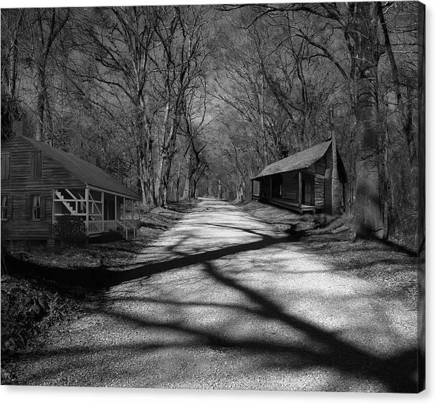 Photoart Canvas Print featuring the photograph Route De La Louisiane by Cecil Fuselier