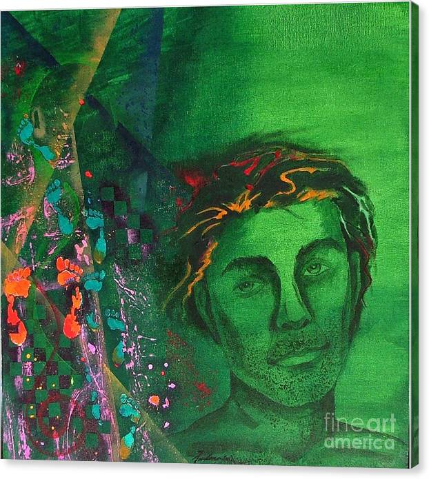 Semi-abstract Canvas Print featuring the painting My Meanderings by Padmakar Kappagantula