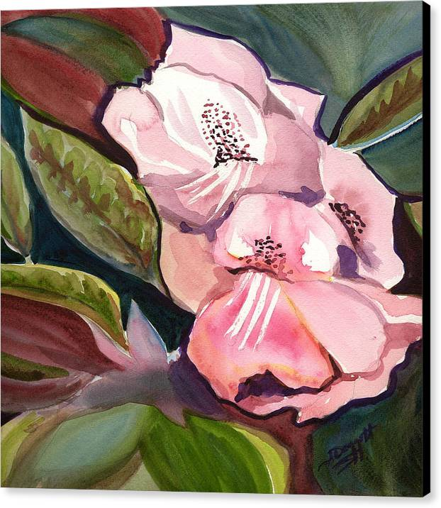 Floral Canvas Print featuring the painting Jungle Floral by Janet Doggett