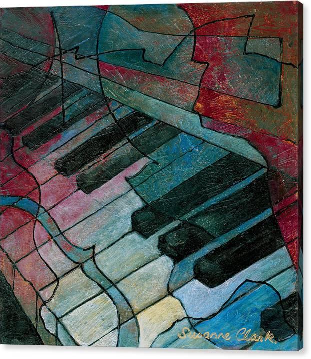 On Key - Keyboard Painting by Susanne Clark