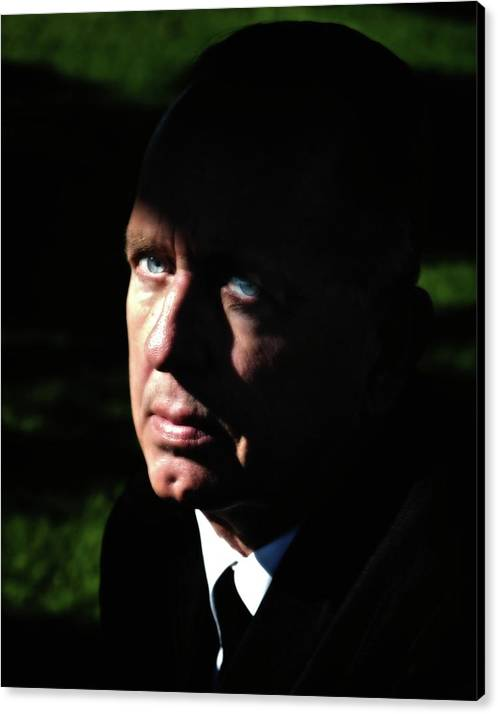Portraits Canvas Print featuring the photograph 'movie Heavy Bobby Ciari Hollywood Beach California 2010 by Gus McCrea