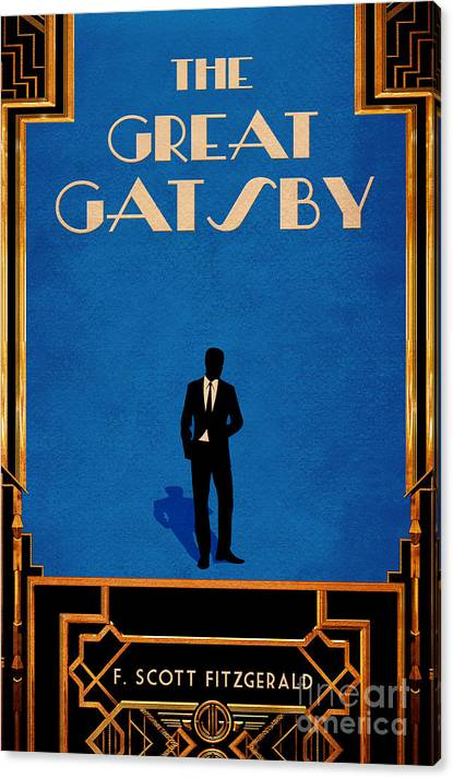 The Great Gatsby Book Cover Movie Poster Art 1 by Nishanth Gopinathan