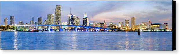Miami Canvas Print featuring the photograph Miami 2004 by Patrick M Lynch