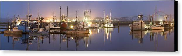 Sky Canvas Print featuring the photograph Early Morning Harbor II by Jon Glaser