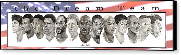 The Dream Team Canvas Print featuring the painting the Dream Team by Tamir Barkan