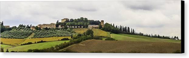 2005 Canvas Print featuring the photograph Ville Di Corsano Near Siena - Tuscany Italy by Karen Stephenson