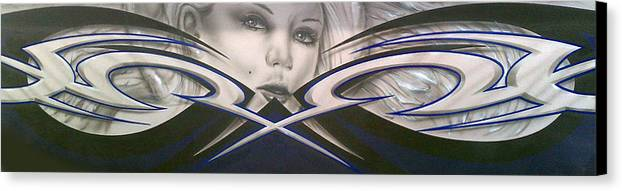 Angel Canvas Print featuring the painting Angel Eyes by Mike Royal