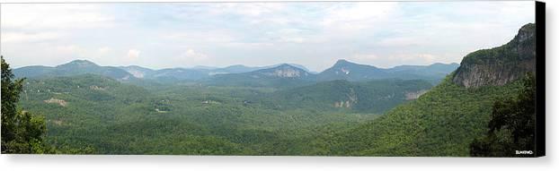 North Carolina Canvas Print featuring the photograph Carolina Mountain View by Al Blackford