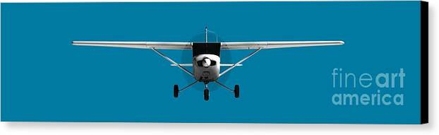 3d Canvas Print featuring the digital art Cessna 152 by Jan Brons