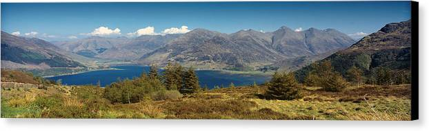 Mountains Canvas Print featuring the photograph Five Sisters Of Kintail by Donald Buchanan