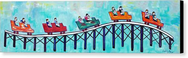 Memorabilia Canvas Print featuring the painting Roller Fun by Patricia Arroyo