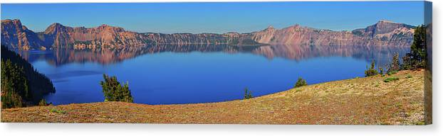 Crater Lake Canvas Print featuring the photograph Big Blue by Greg Norrell
