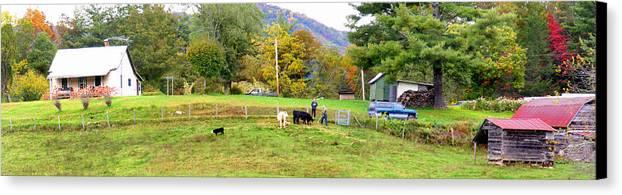 Duane Mccullough Canvas Print featuring the photograph Mac's Farm In Balsam Grove 2 by Duane McCullough
