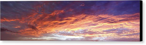 Dawn Canvas Print featuring the photograph Sky On Fire by Les Cunliffe