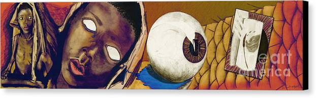 Feed The Children Canvas Print featuring the digital art Hunger by Laura Brightwood