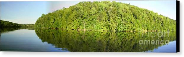 Mega Reflections Panorama Photograph Photography By Daniel Henning Canvas Print featuring the photograph Mega Reflections Panorama by Daniel Henning