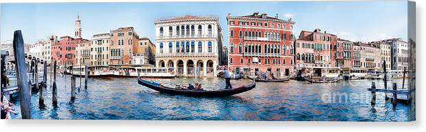 Venice Canvas Print featuring the photograph The Gliding Gondola by Christopher Maxum