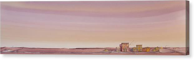 High Plains Canvas Print featuring the painting The Sweetest Little Town On The High Plains by Scott Kirby