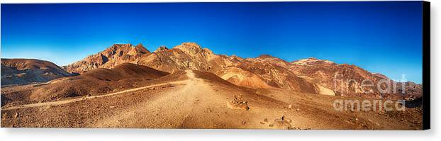 Valley Canvas Print featuring the photograph Artist Palette Pano by Jane Rix